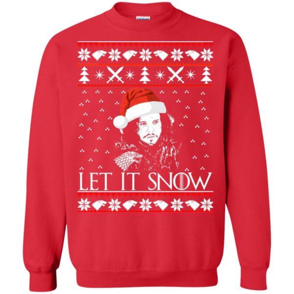 image 942 600x600 - Game of Thrones: Jon Snow let it Snow Christmas sweater, long sleeve