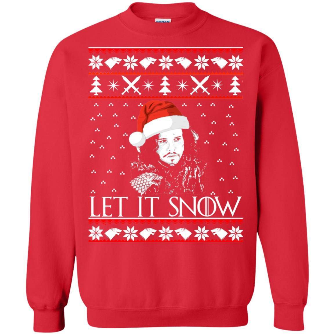 image 942 - Game of Thrones: Jon Snow let it Snow Christmas sweater, long sleeve