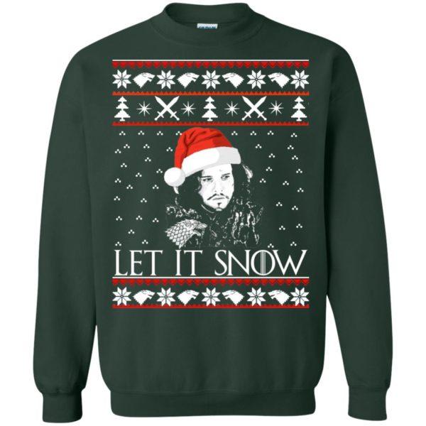 image 943 600x600 - Game of Thrones: Jon Snow let it Snow Christmas sweater, long sleeve