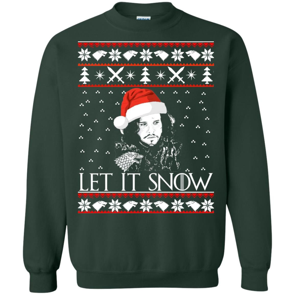 image 943 - Game of Thrones: Jon Snow let it Snow Christmas sweater, long sleeve