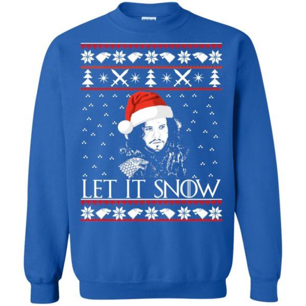 image 944 600x600 - Game of Thrones: Jon Snow let it Snow Christmas sweater, long sleeve