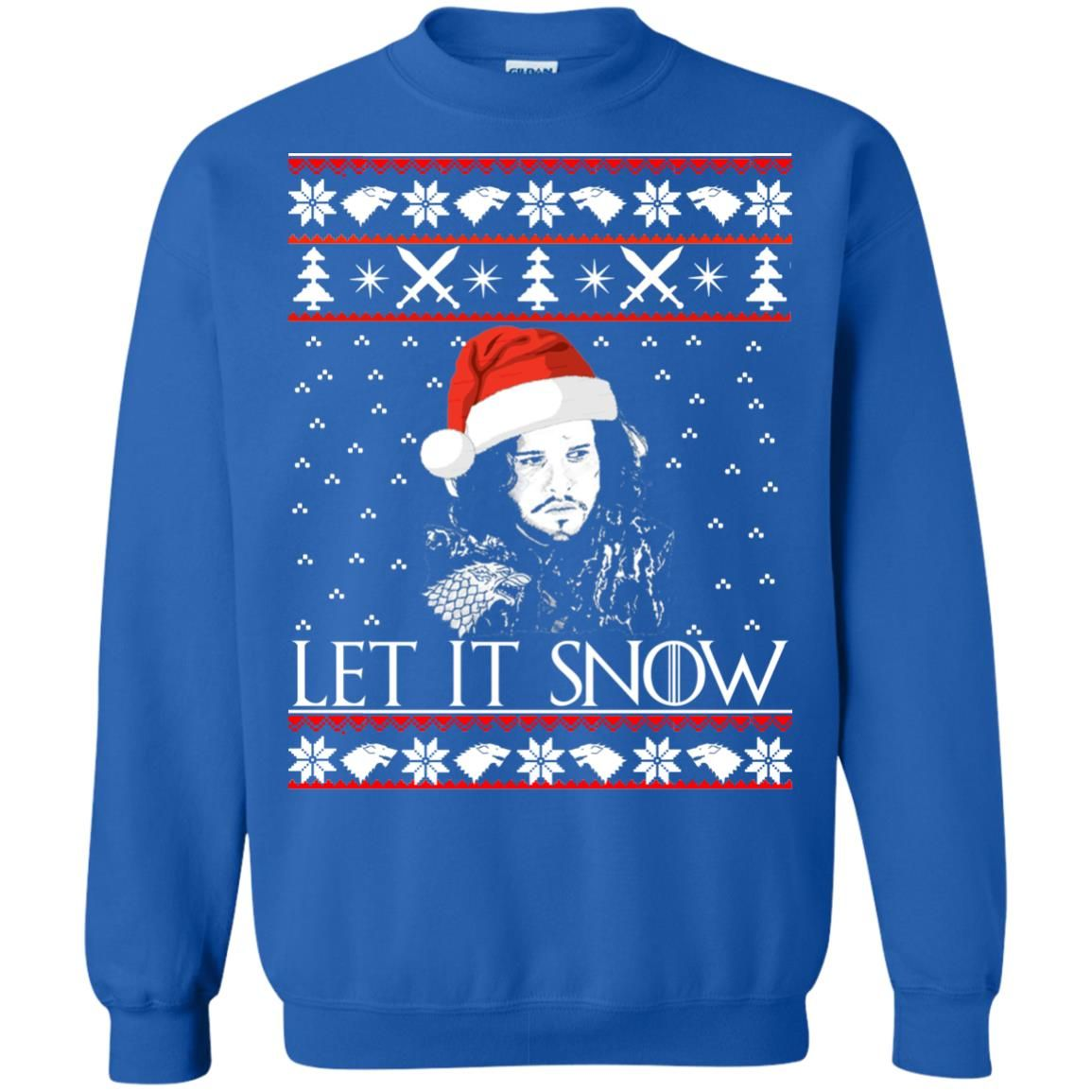 image 944 - Game of Thrones: Jon Snow let it Snow Christmas sweater, long sleeve