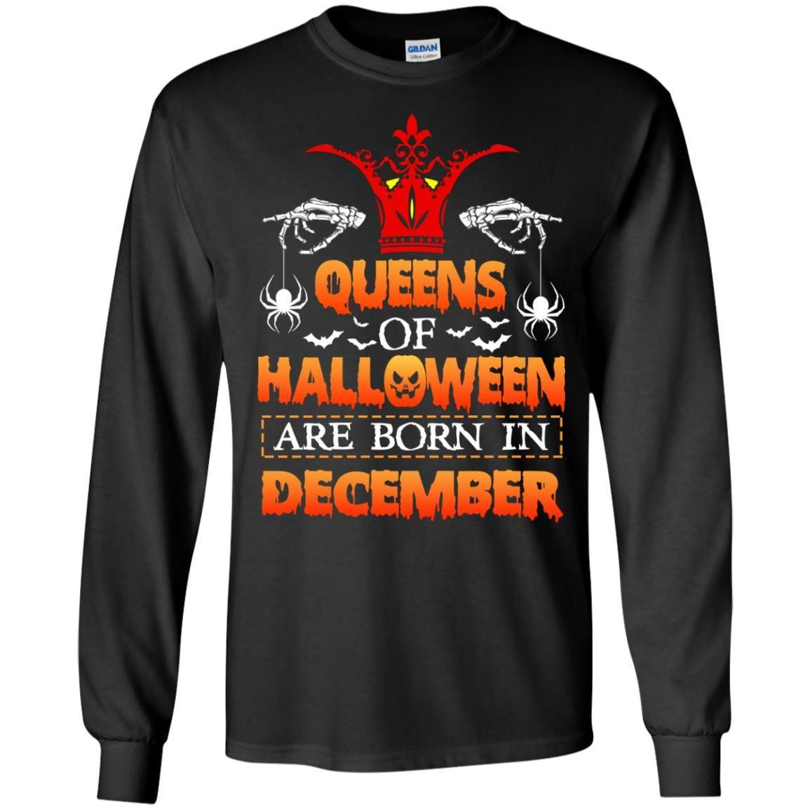 image 962 - Queens of Halloween are born in December shirt, tank top, hoodie