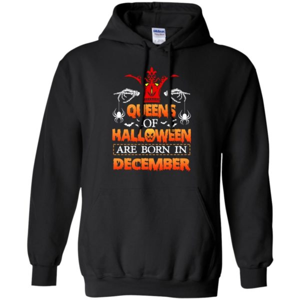 image 964 600x600 - Queens of Halloween are born in December shirt, tank top, hoodie