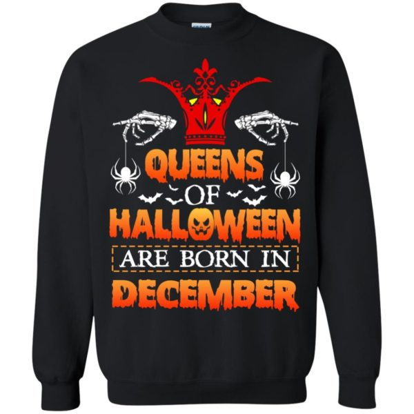 image 966 600x600 - Queens of Halloween are born in December shirt, tank top, hoodie