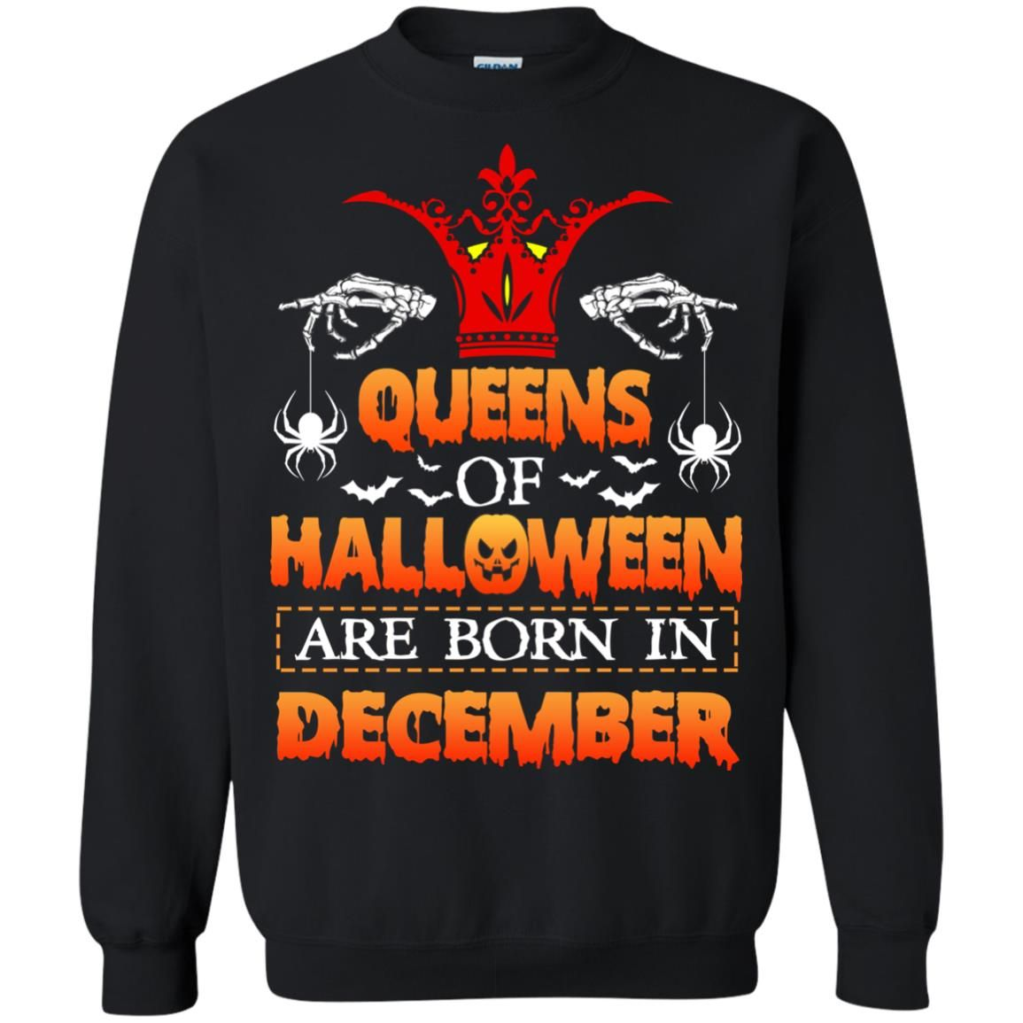 image 966 - Queens of Halloween are born in December shirt, tank top, hoodie