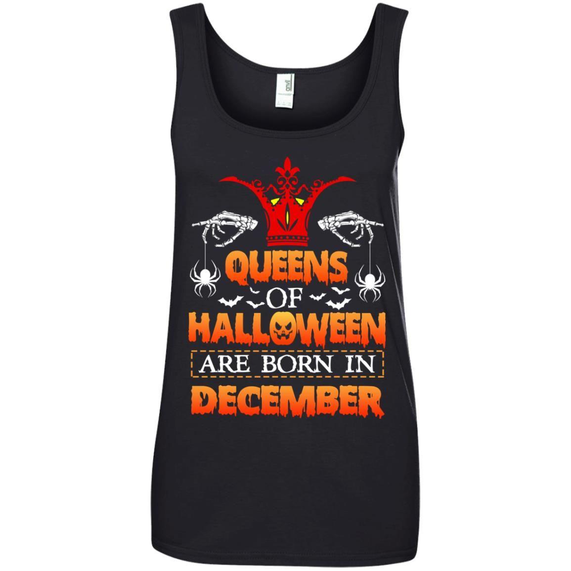 image 968 - Queens of Halloween are born in December shirt, tank top, hoodie