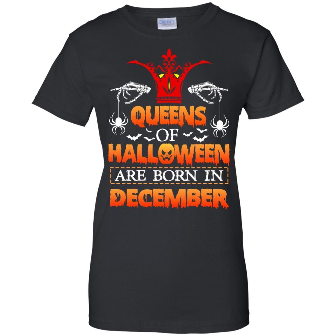 image 970 - Queens of Halloween are born in December shirt, tank top, hoodie