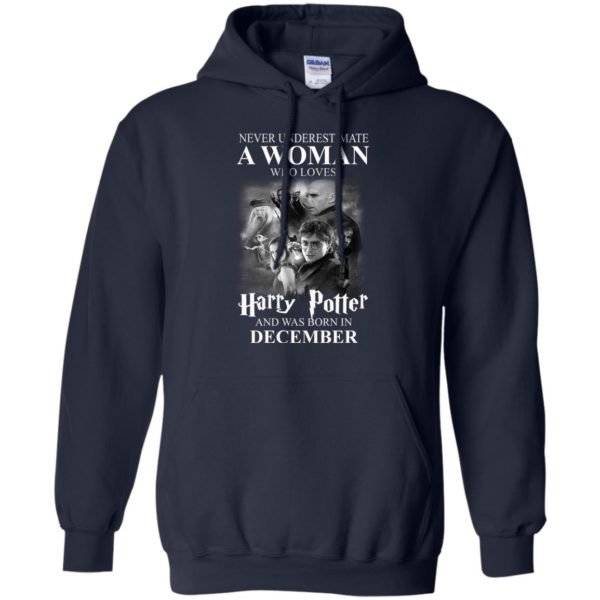 image 1031 600x600 - Never underestimate A woman who watches Harry Potter and was born in December shirt