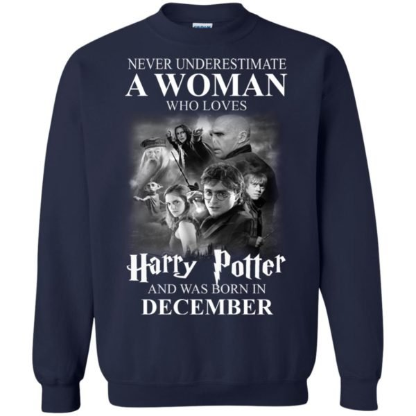 image 1033 600x600 - Never underestimate A woman who watches Harry Potter and was born in December shirt