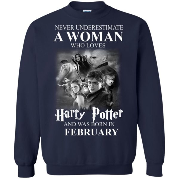 image 1153 600x600 - Never underestimate A woman who watches Harry Potter and was born in February shirt