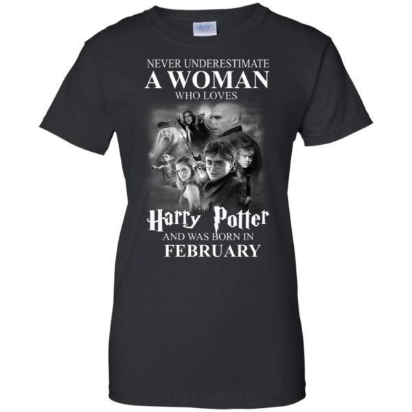 image 1156 600x600 - Never underestimate A woman who watches Harry Potter and was born in February shirt