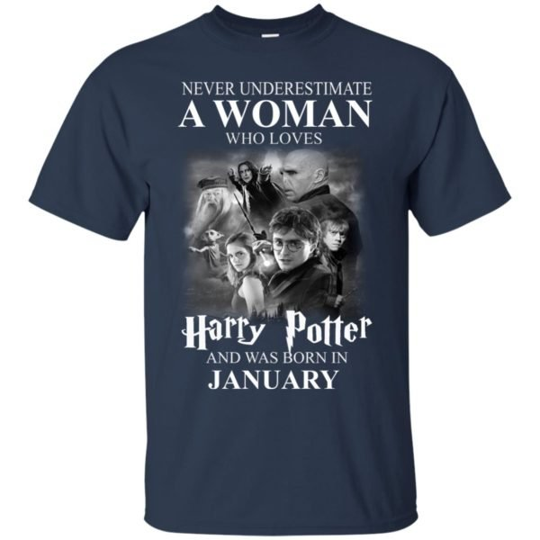 image 1159 600x600 - Never underestimate A woman who watches Harry Potter and was born in January shirt