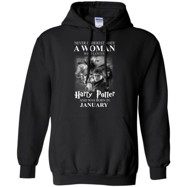 image 1162 600x600 - Never underestimate A woman who watches Harry Potter and was born in January shirt