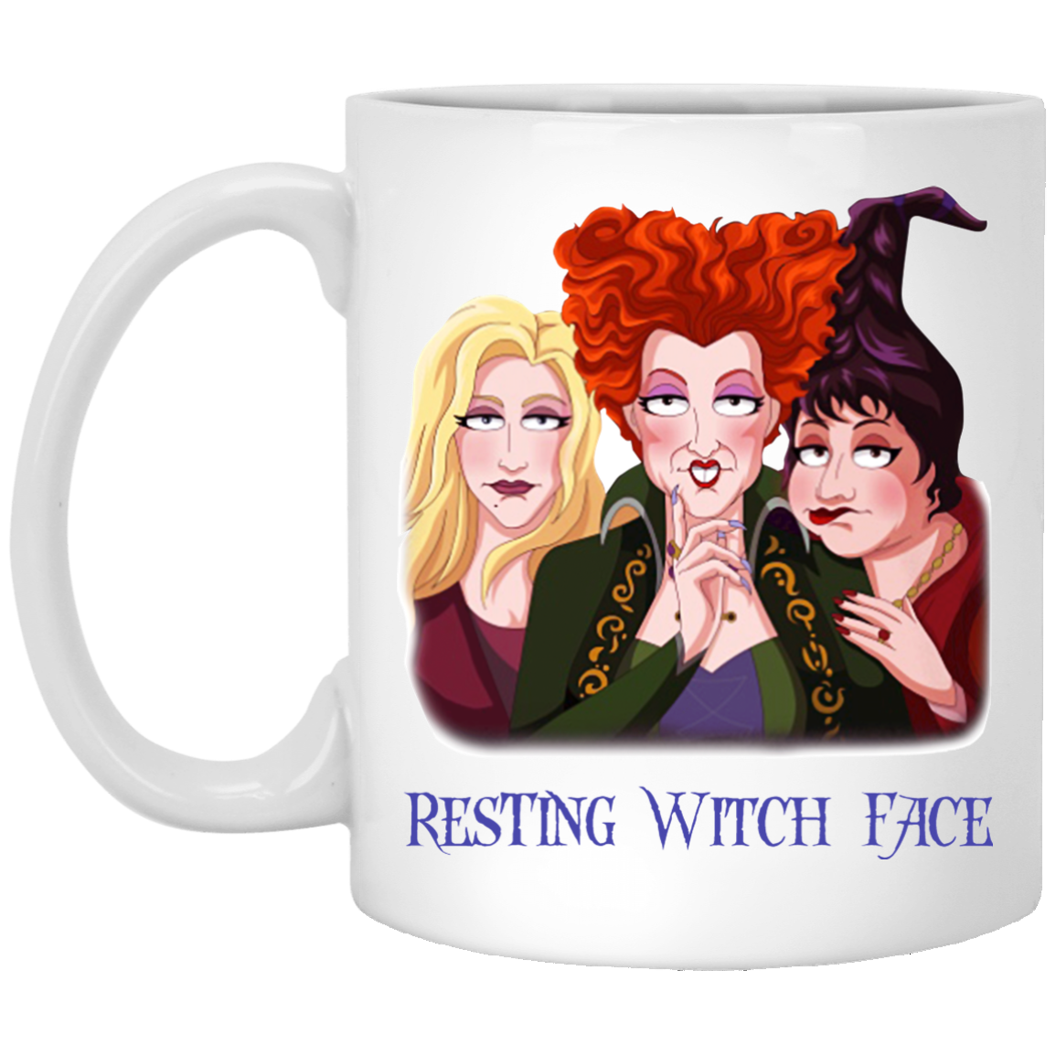 image 16 - Sanderson Sisters Resting Witch Face Hocus Pocus mug