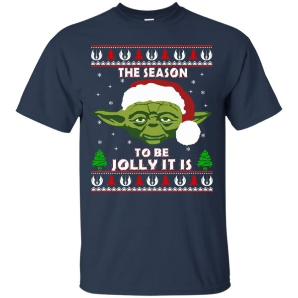 image 1699 600x600 - Star Wars Yoda: Tis the season to be jolly it is Christmas sweater, hoodie