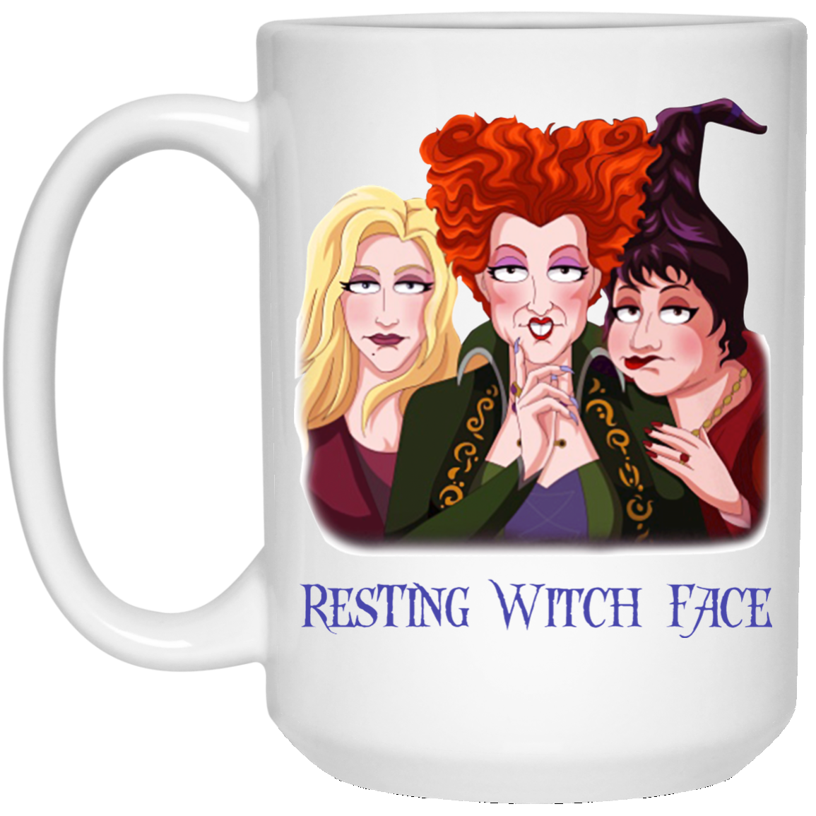 image 17 - Sanderson Sisters Resting Witch Face Hocus Pocus mug