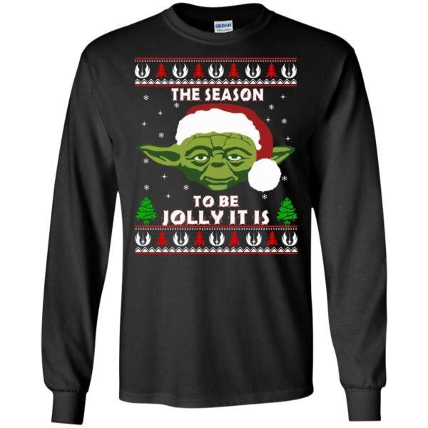 image 1700 600x600 - Star Wars Yoda: Tis the season to be jolly it is Christmas sweater, hoodie