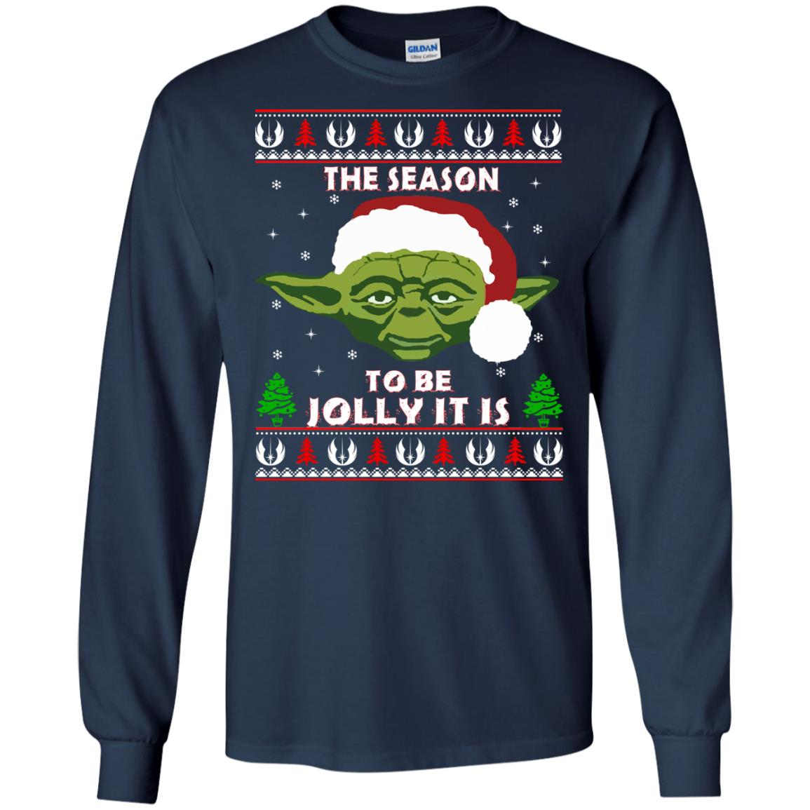 image 1701 - Star Wars Yoda: Tis the season to be jolly it is Christmas sweater, hoodie