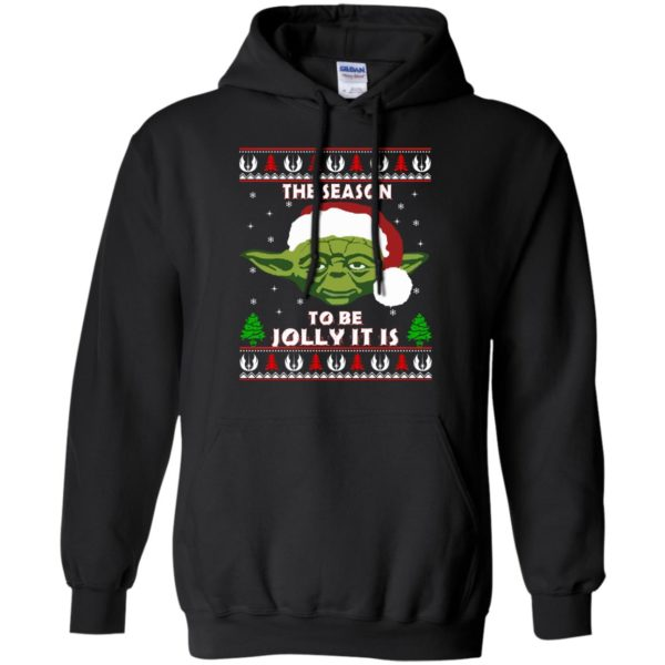 image 1702 600x600 - Star Wars Yoda: Tis the season to be jolly it is Christmas sweater, hoodie