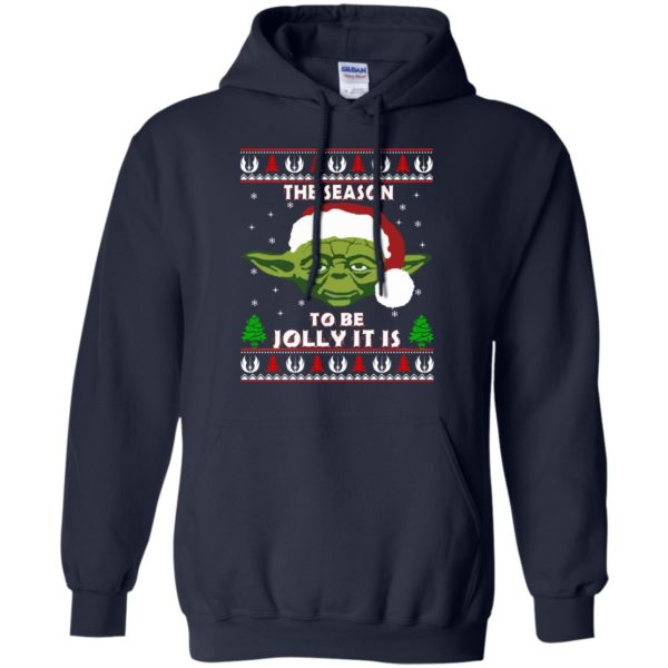image 1703 600x600 - Star Wars Yoda: Tis the season to be jolly it is Christmas sweater, hoodie