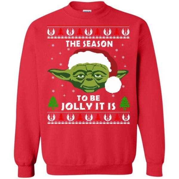 image 1706 600x600 - Star Wars Yoda: Tis the season to be jolly it is Christmas sweater, hoodie