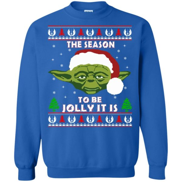 image 1708 600x600 - Star Wars Yoda: Tis the season to be jolly it is Christmas sweater, hoodie