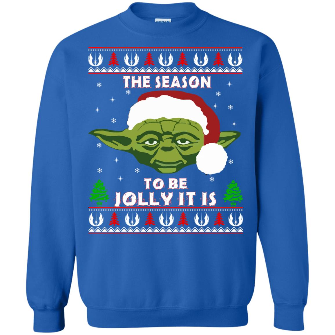 image 1708 - Star Wars Yoda: Tis the season to be jolly it is Christmas sweater, hoodie