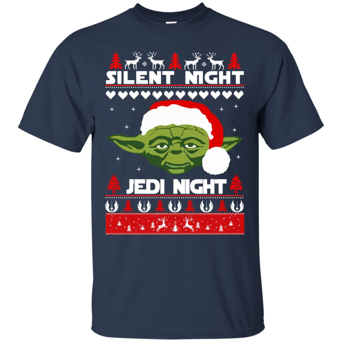 image 1711 - Yoda Star Wars: Silent Night Jedi Night Christmas Sweater, Hoodie