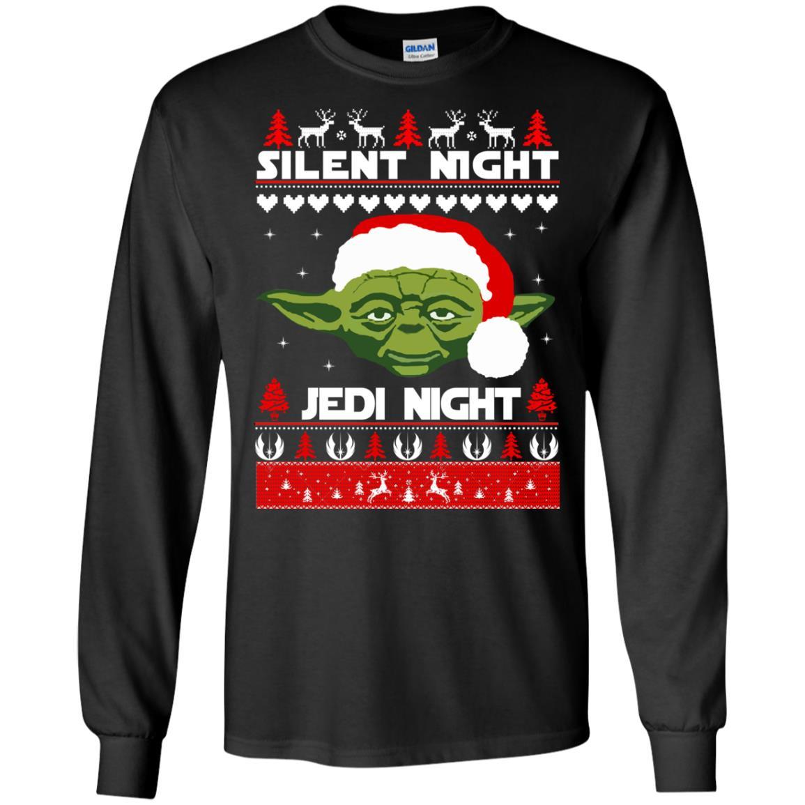 image 1712 - Yoda Star Wars: Silent Night Jedi Night Christmas Sweater, Hoodie