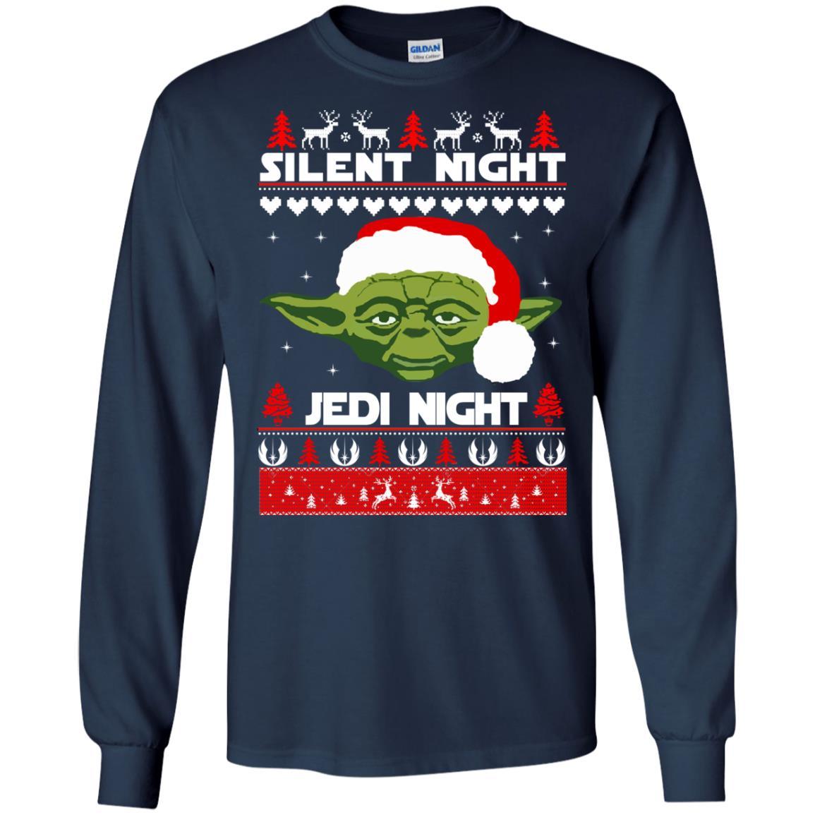 image 1713 - Yoda Star Wars: Silent Night Jedi Night Christmas Sweater, Hoodie