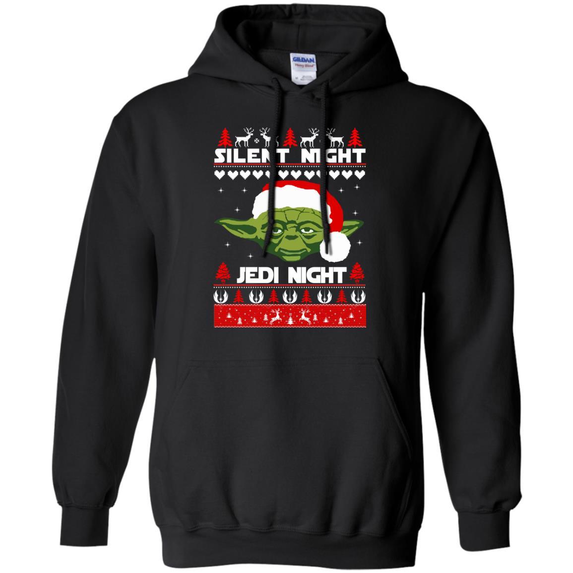 image 1714 - Yoda Star Wars: Silent Night Jedi Night Christmas Sweater, Hoodie