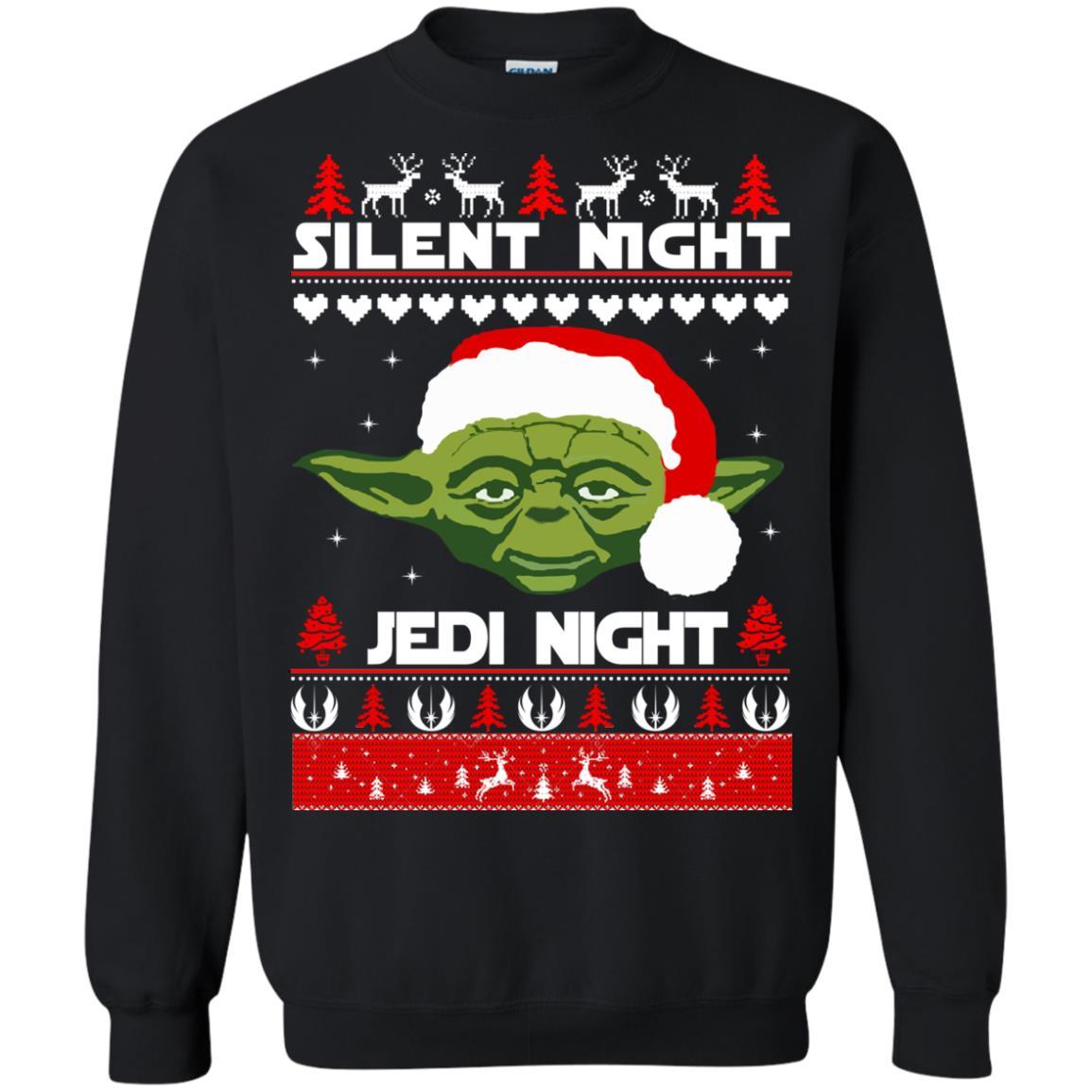 image 1716 - Yoda Star Wars: Silent Night Jedi Night Christmas Sweater, Hoodie