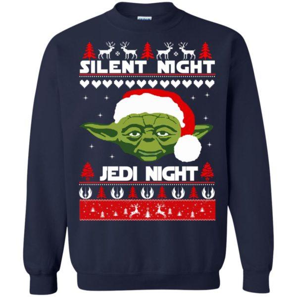 image 1717 600x600 - Yoda Star Wars: Silent Night Jedi Night Christmas Sweater, Hoodie