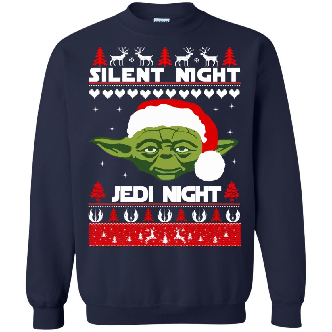 image 1717 - Yoda Star Wars: Silent Night Jedi Night Christmas Sweater, Hoodie