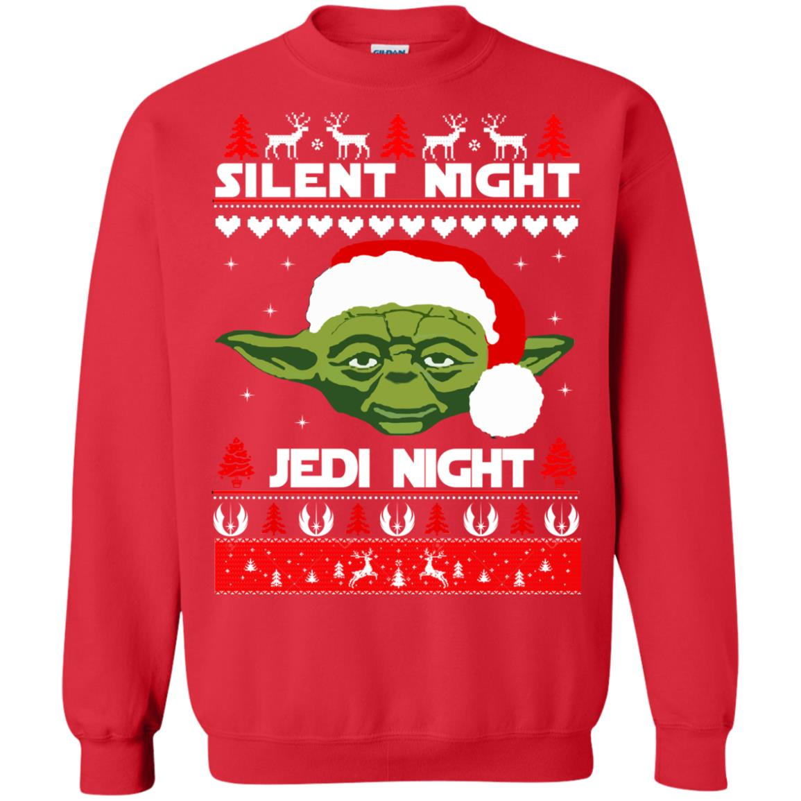 image 1718 - Yoda Star Wars: Silent Night Jedi Night Christmas Sweater, Hoodie