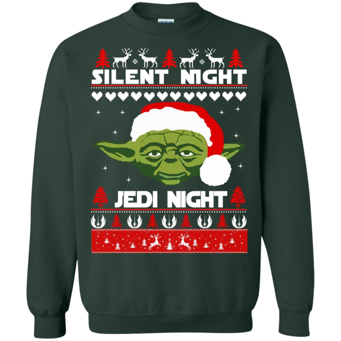 image 1719 - Yoda Star Wars: Silent Night Jedi Night Christmas Sweater, Hoodie