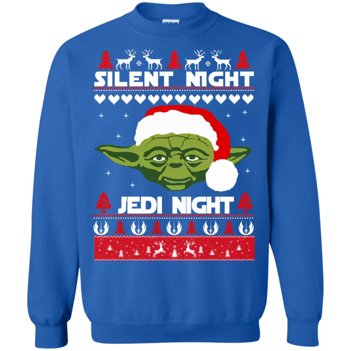 image 1720 - Yoda Star Wars: Silent Night Jedi Night Christmas Sweater, Hoodie