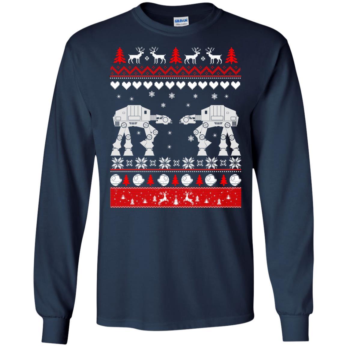 image 1737 - Star Wars AT AT Walker Christmas Sweatshirt, Hoodie