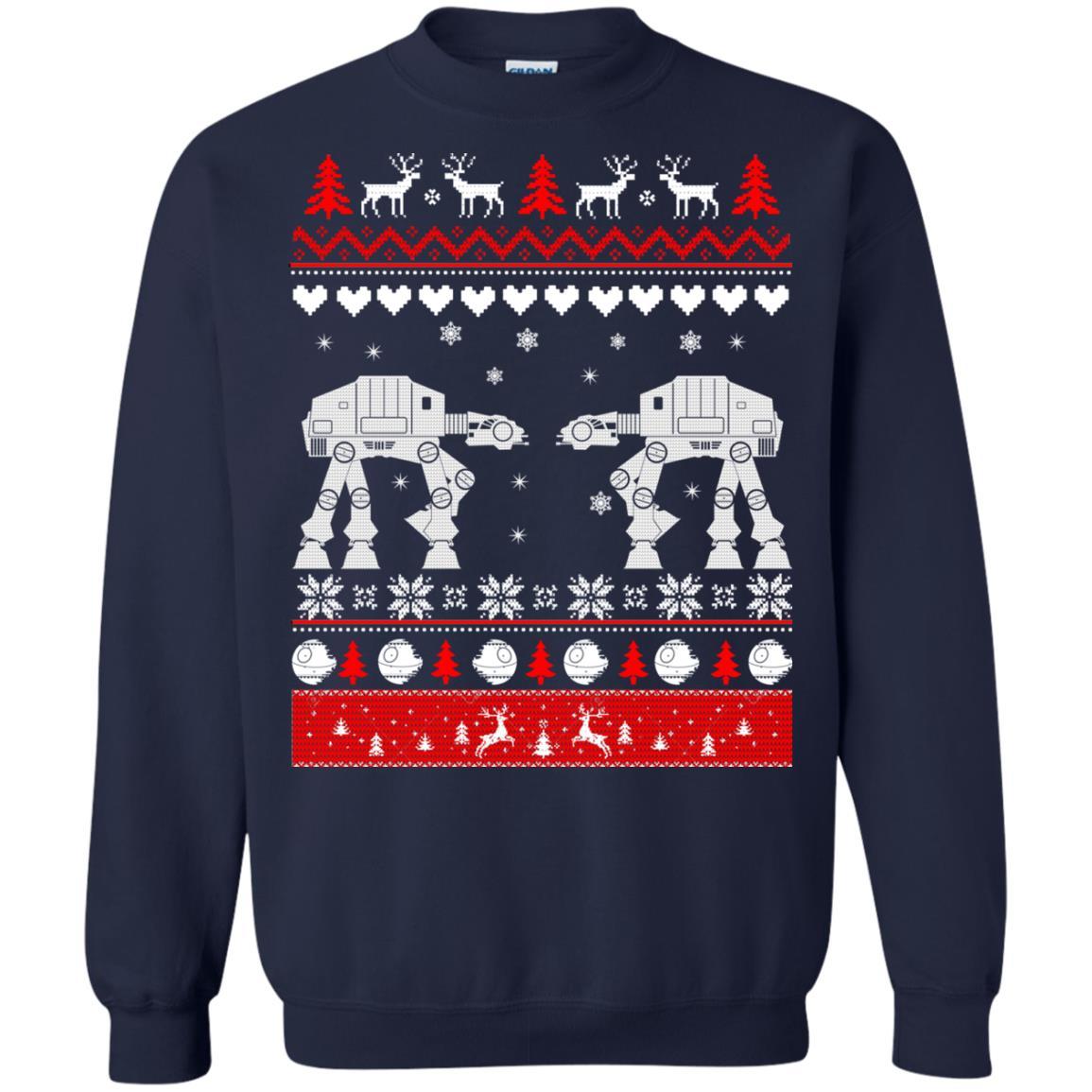 image 1741 - Star Wars AT AT Walker Christmas Sweatshirt, Hoodie