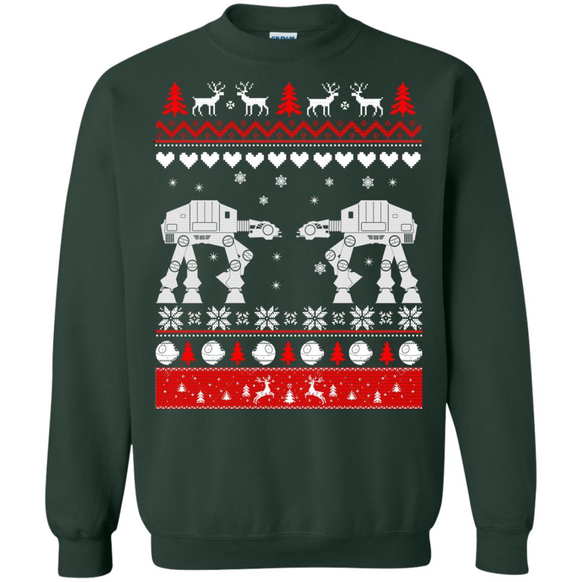 image 1743 - Star Wars AT AT Walker Christmas Sweatshirt, Hoodie