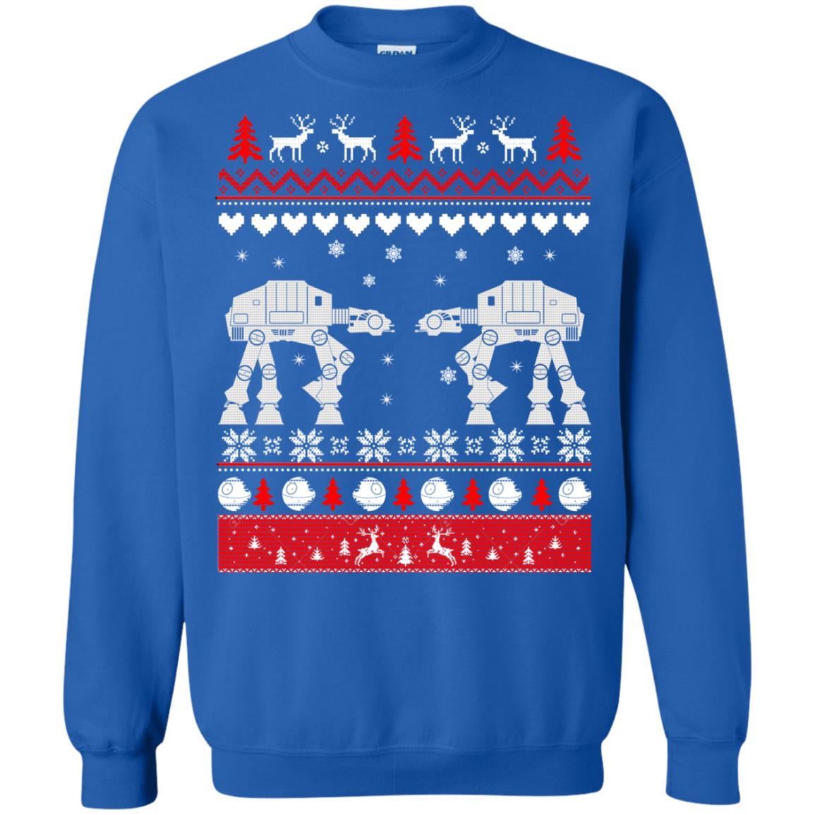 image 1744 - Star Wars AT AT Walker Christmas Sweatshirt, Hoodie
