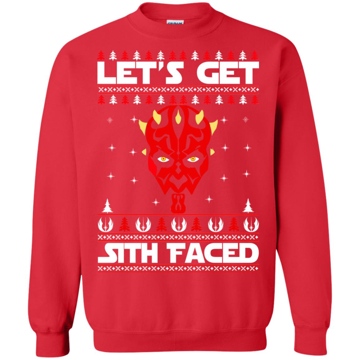 image 1754 - Darth Maul Let's Get Sith Faced Christmas Sweater