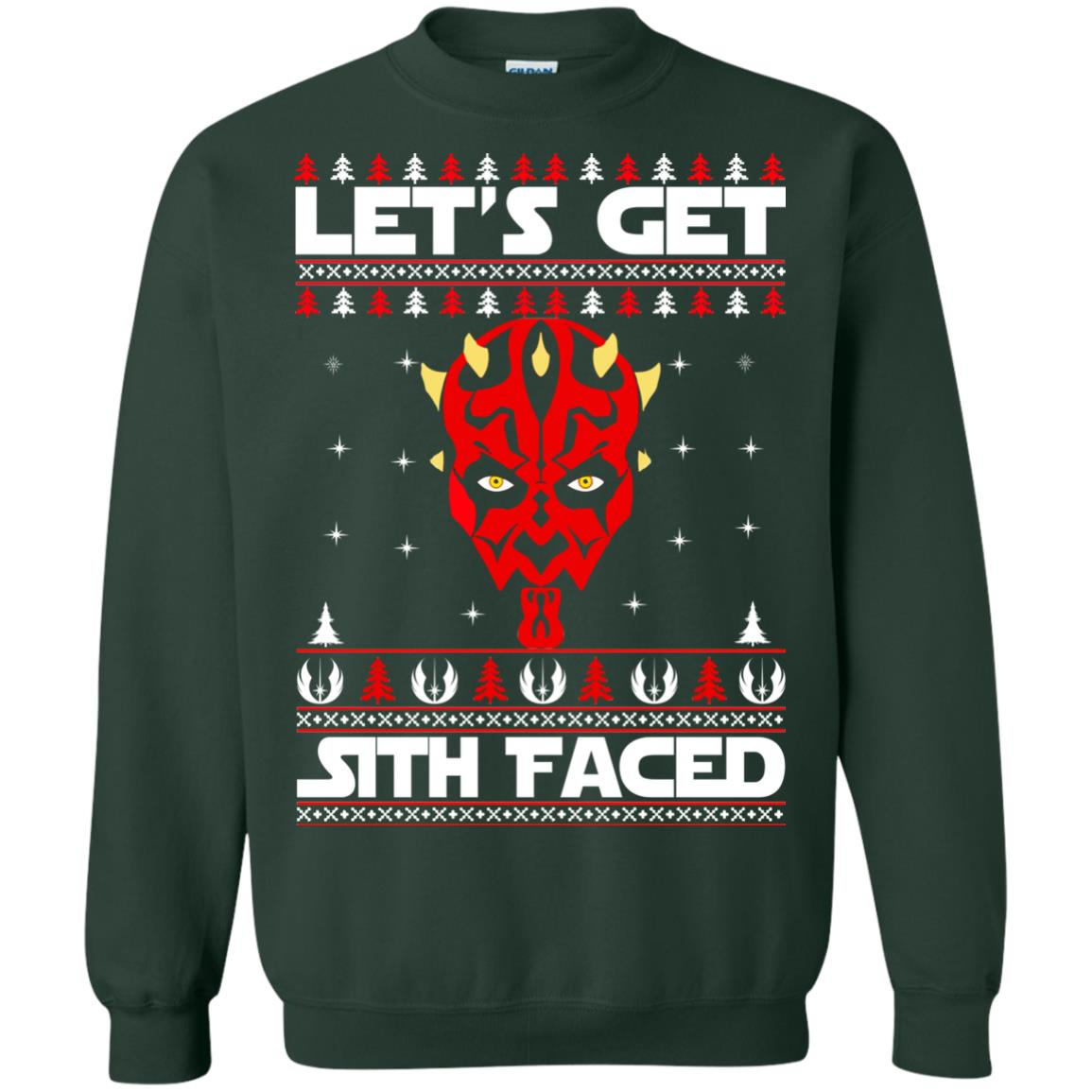 image 1755 - Darth Maul Let's Get Sith Faced Christmas Sweater