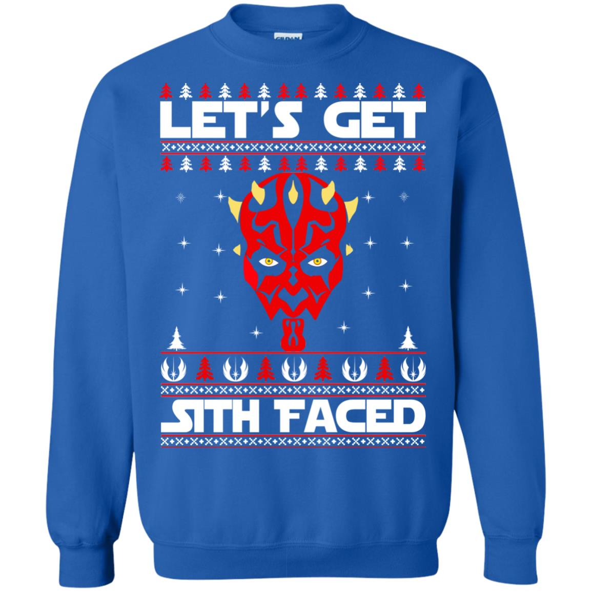 image 1756 - Darth Maul Let's Get Sith Faced Christmas Sweater