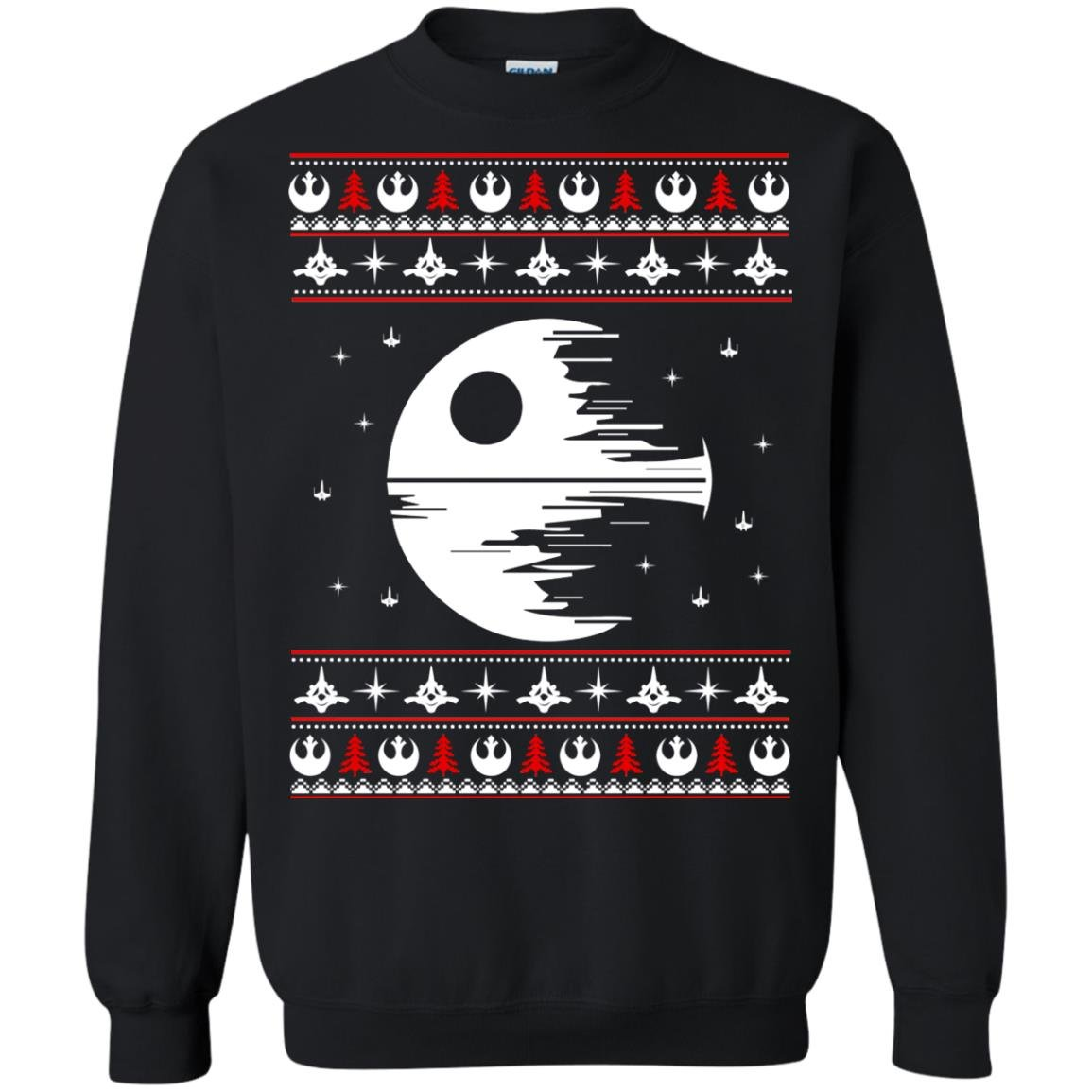 image 1776 - Star Wars Death Star Darth Vader Ugly Sweater, Shirt