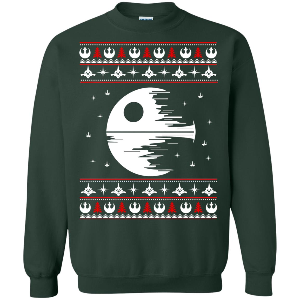 image 1779 - Star Wars Death Star Darth Vader Ugly Sweater, Shirt