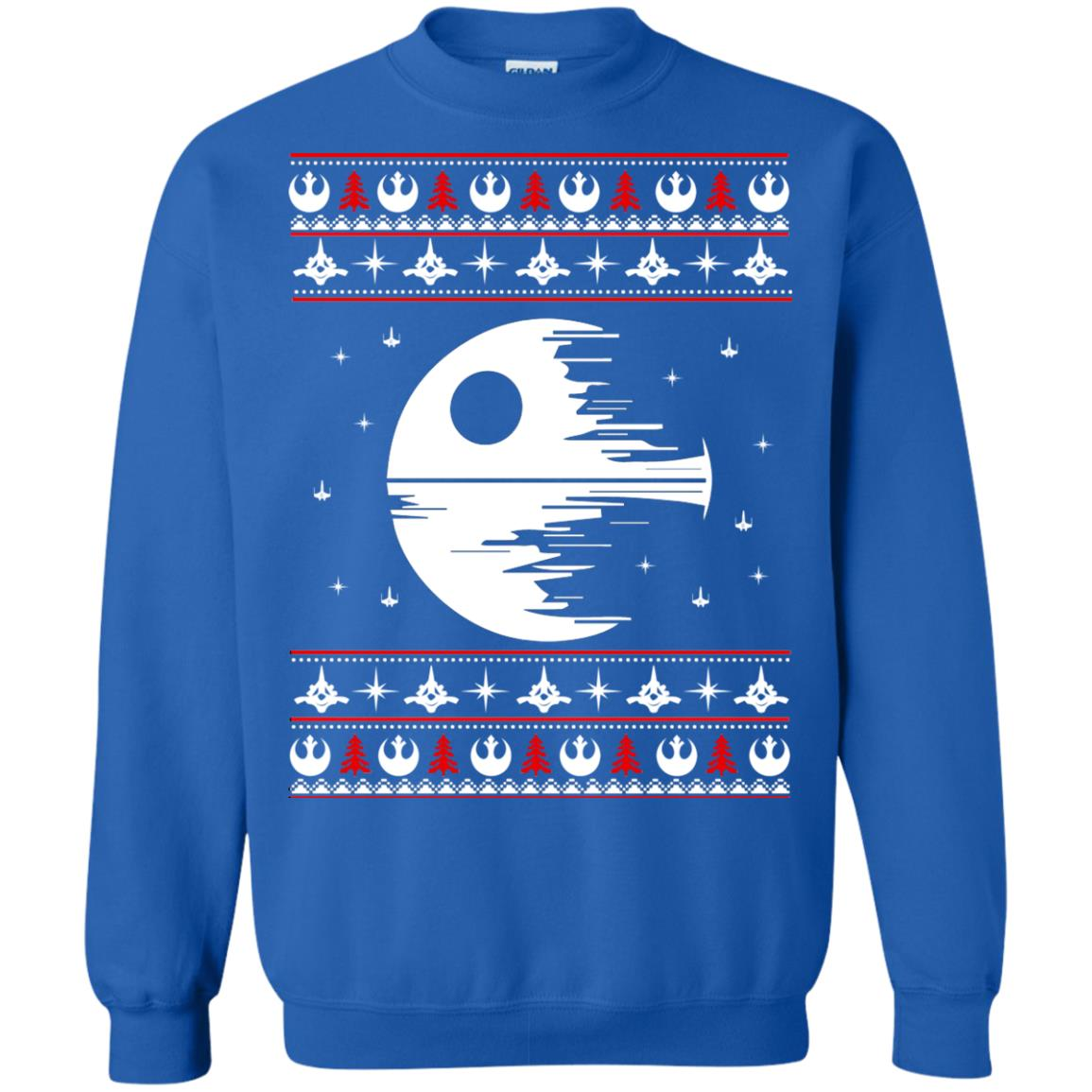 image 1780 - Star Wars Death Star Darth Vader Ugly Sweater, Shirt