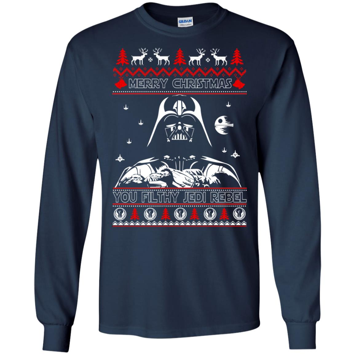 image 1785 - Darth Vader Merry Christmas You Filthy Jedi Rebel Ugly Sweater, Shirt