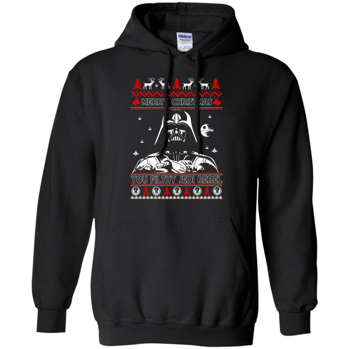 image 1786 - Darth Vader Merry Christmas You Filthy Jedi Rebel Ugly Sweater, Shirt